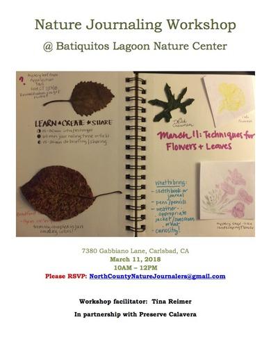 Final BLF Journaling Workshop Event Flier